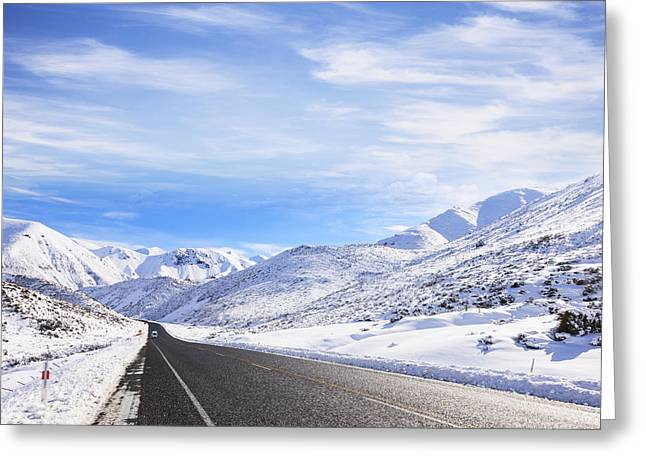New Zealand Winter Snow Greeting Card by Colin and Linda McKie