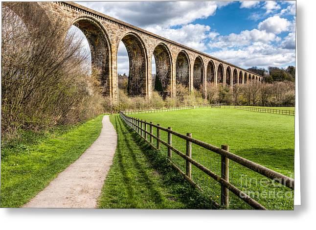 Newbridge Viaduct Greeting Card by Adrian Evans