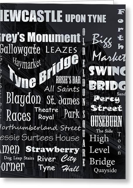 Market St Bridge Greeting Cards - Newcastle Greeting Card by David Pringle