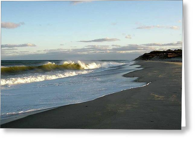 Newcomb Hollow Beach Greeting Card by Baratz Tom