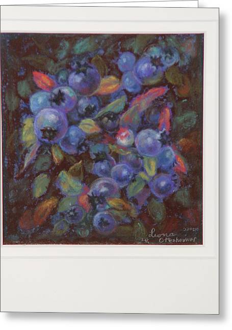 Blueberry Pastels Greeting Cards - Newfoundland Blueberries Greeting Card by Leona Ottenheimer