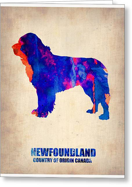 Colorful Art Digital Art Greeting Cards - Newfoundland Poster Greeting Card by Naxart Studio