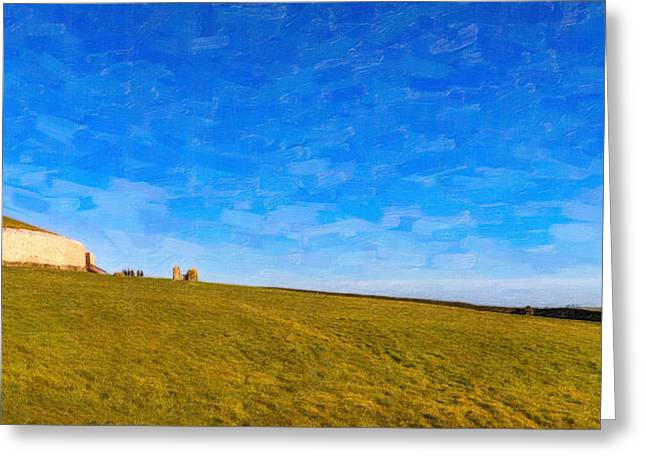 Newgrange - Ancient Observatory in Ireland Greeting Card by Mark Tisdale