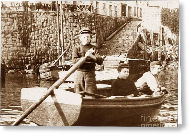 Dhildhood Greeting Cards - Newlyn Harbour Cornwall England Greeting Card by The Keasbury-Gordon Photograph Archive