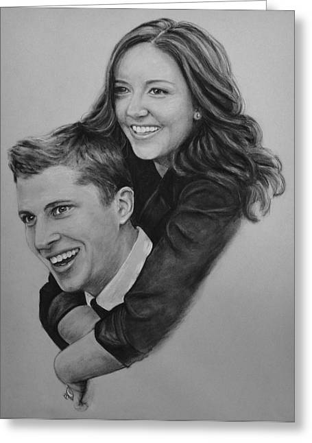 Commissions Pastels Greeting Cards - Newlyweds Greeting Card by Richelle Siska