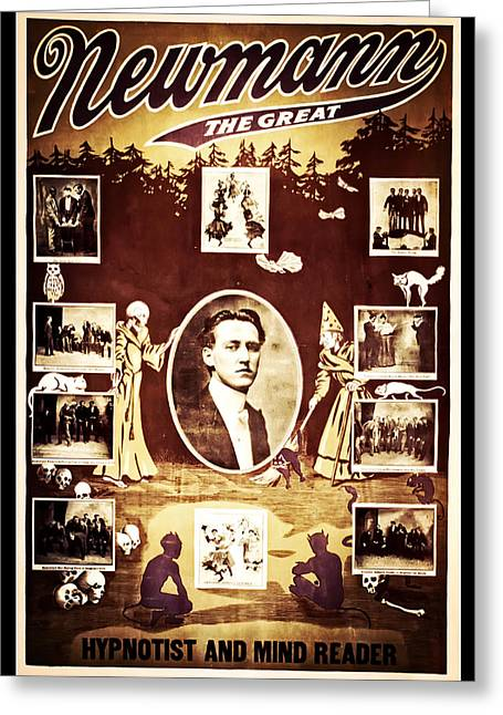 Magic Show Greeting Cards - Newmann the Great Greeting Card by The  Vault - Jennifer Rondinelli Reilly