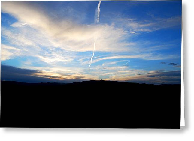 Becky Greeting Cards - #newmexicosunset Greeting Card by Becky Furgason