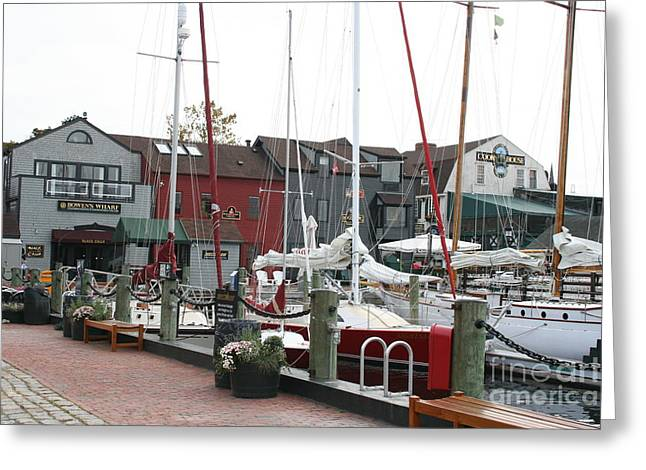 Habor Greeting Cards - Newport  -  Rhode Island Greeting Card by Christiane Schulze Art And Photography