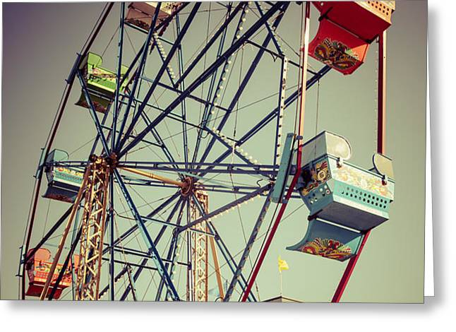 Newport Beach Ferris Wheel in Balboa Fun Zone Photo Greeting Card by Paul Velgos