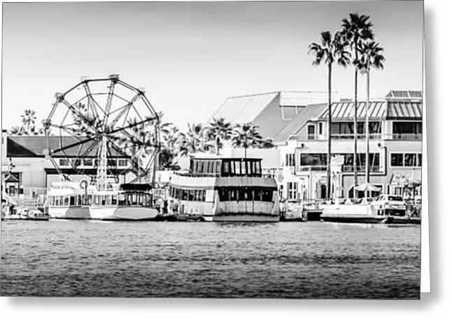 1970s Greeting Cards - Newport Beach Fun Zone Panoramic Photo Greeting Card by Paul Velgos