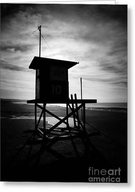 Shack Greeting Cards - Newport Beach Lifeguard Tower 10 Greeting Card by Paul Velgos
