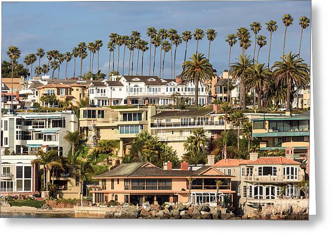 Opulence Greeting Cards - Newport Beach Luxury Homes in Corona del Mar California Greeting Card by Paul Velgos