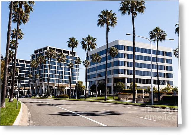Amiercan Greeting Cards - Newport Beach Office Buildings Orange County California Greeting Card by Paul Velgos