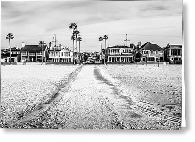 Newport Beach Panorama At 11th Street And Balboa Greeting Card by Paul Velgos