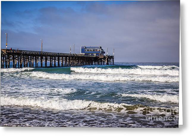 Colorful Photos Greeting Cards - Newport Beach Pier in Orange County California Greeting Card by Paul Velgos