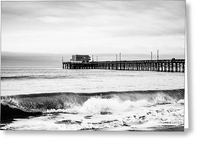 Peninsula Greeting Cards - Newport Beach Pier Greeting Card by Paul Velgos
