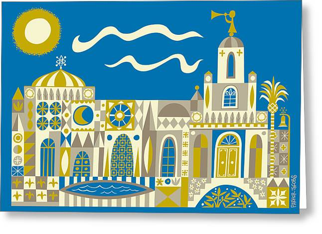 Disney Greeting Cards - Newport Beach Temple Greeting Card by Parker  Jacobs