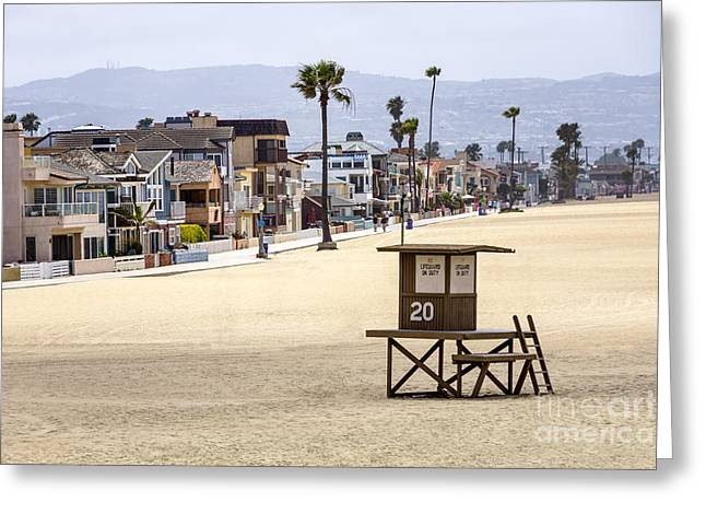 Newport Beach Waterfront Luxury Homes Greeting Card by Paul Velgos
