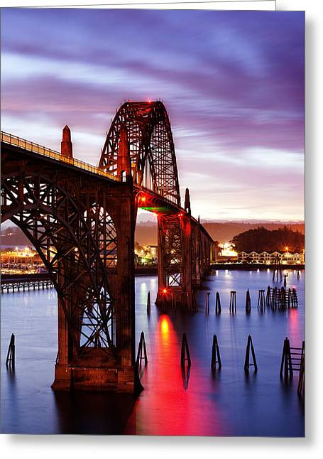 Bay Bridge Greeting Cards - Newport Dawn Greeting Card by Darren  White