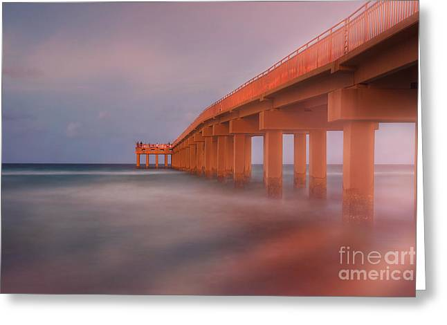 Ddmitr Greeting Cards - Newport Fishing Pier Greeting Card by Dmitry Chernomazov