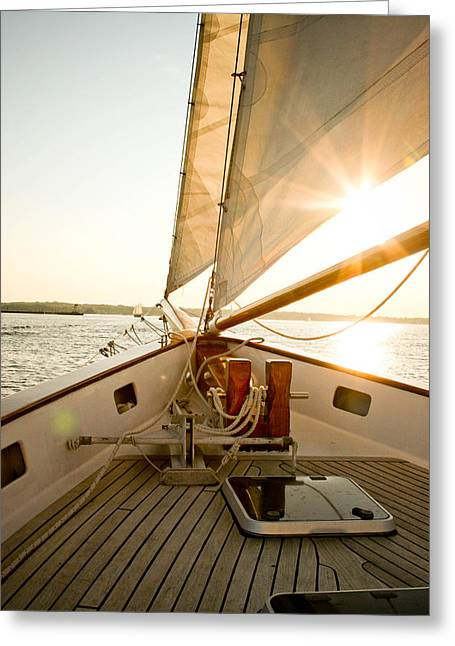 Allan Millora Greeting Cards - Newport Sail Greeting Card by Allan Millora Photography