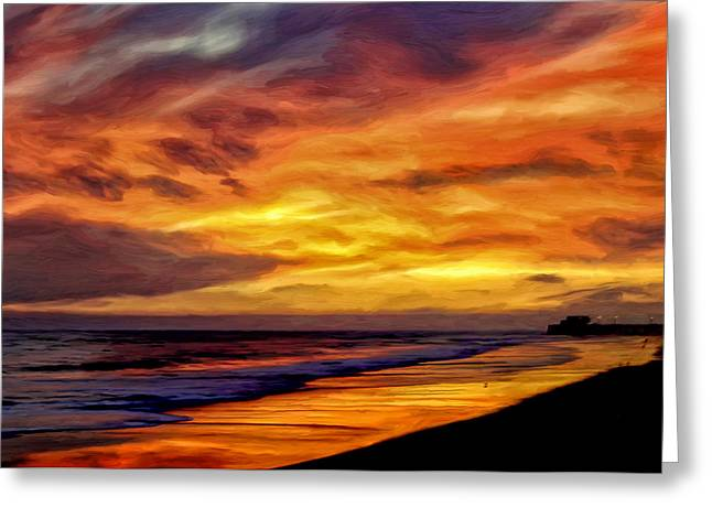 Sillouette Greeting Cards - Newport Twilight Greeting Card by Michael Pickett
