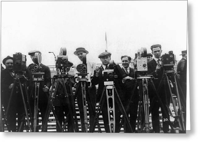 Newsreel Cameramen, 1921 Greeting Card by Granger