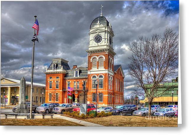 National Historic District Greeting Cards - Historic Newton County Court House  Greeting Card by Reid Callaway