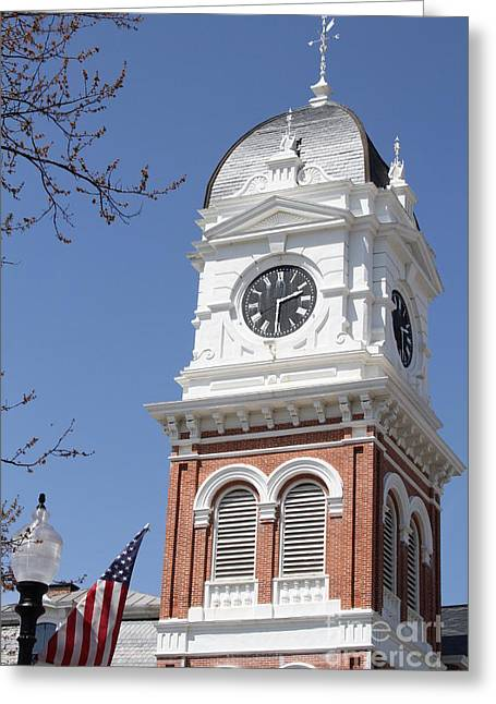 Confederate Monument Greeting Cards - Newton County Courthouse Greeting Card by Cathy Lindsey