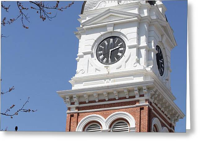 Newton County Courthouse Greeting Card by Cathy Lindsey