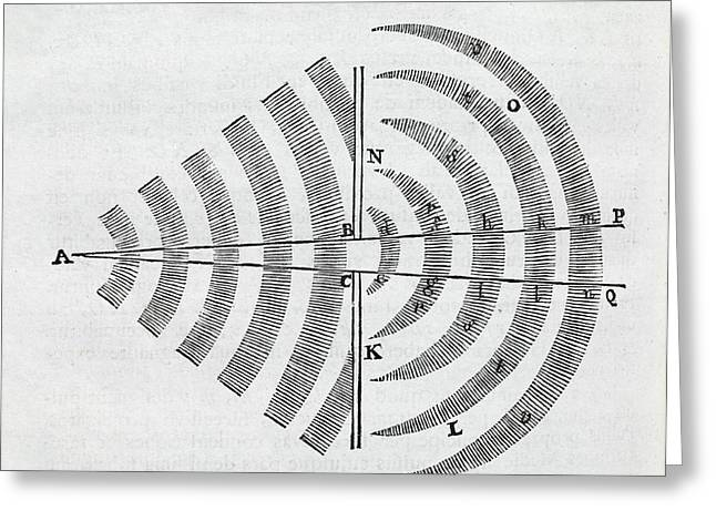 Newton On Wave Theory Greeting Card by Middle Temple Library