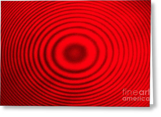 Interference Greeting Cards - Newton Rings Greeting Card by GIPhotoStock