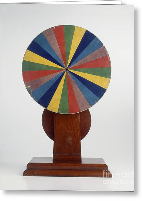 Color Wheel Greeting Cards - Newtons Color Wheel Greeting Card by Dave King Dorling Kindersley Science Museum