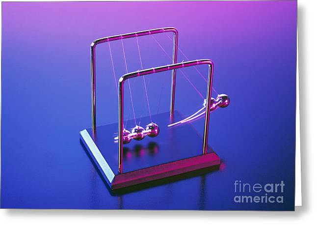 Transfer Greeting Cards - Newtons Cradle Greeting Card by Martyn F. Chillmaid
