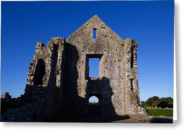 Middle Ages Greeting Cards - Newtown Cathedral Ruins, Trim, County Greeting Card by Panoramic Images