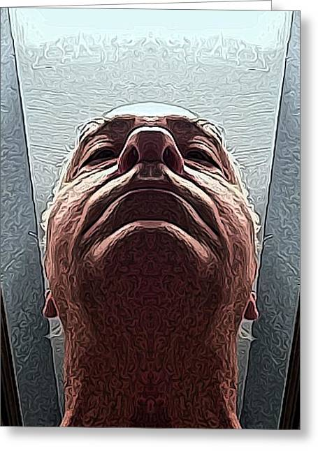 Self-portrait Greeting Cards - Next Greeting Card by Ron Bissett