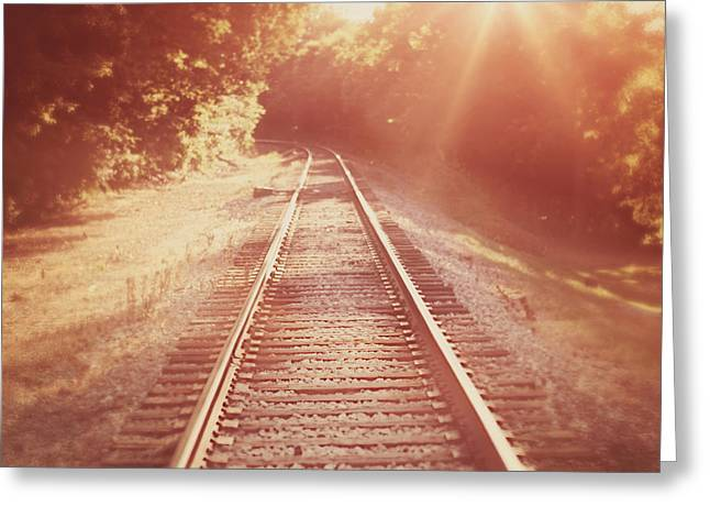 Railroad Greeting Cards - Next Stop Home Greeting Card by Amy Tyler