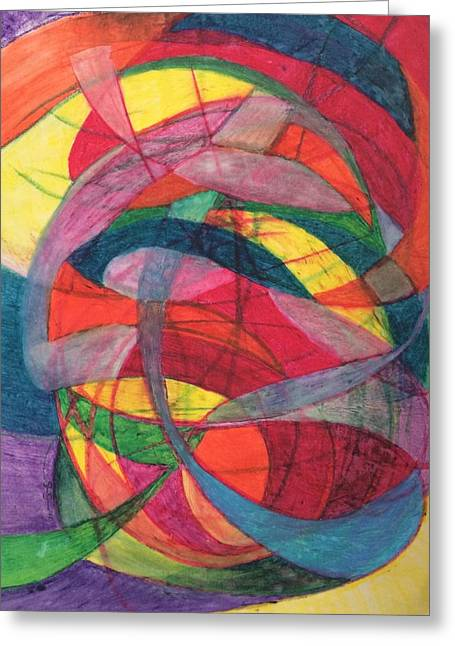Layers Pastels Greeting Cards - Nexus of neurons Greeting Card by Steve Sommers