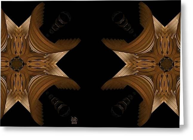 Nexus Greeting Cards - Nexus - Stereogram Greeting Card by David Voutsinas