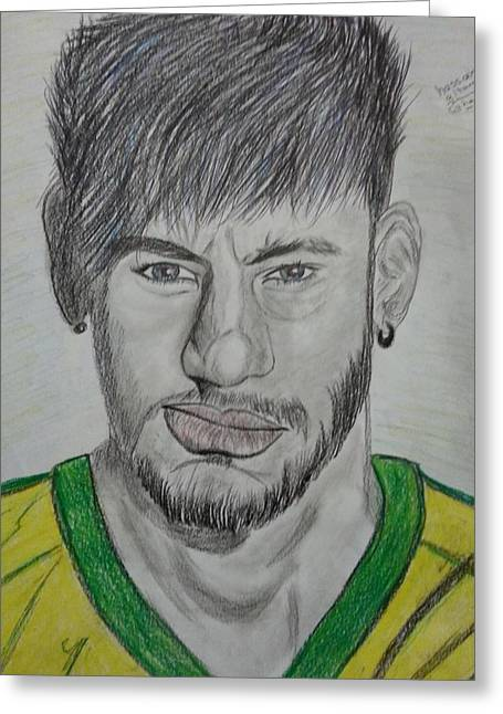 Neymar Greeting Cards - Neymar #2 Greeting Card by Hassan Altamimi