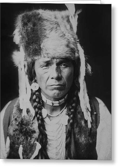 Nez Perce Greeting Cards - Nez Perce Indian circa 1904 Greeting Card by Aged Pixel