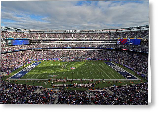 Nfl New York Giants Greeting Card by Juergen Roth