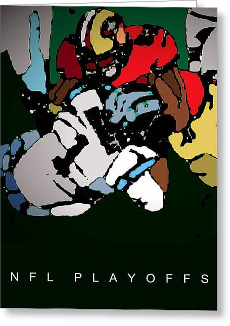 Fortyniner Greeting Cards - Nfl Playoffs Poster Greeting Card by Andrew Drozdowicz
