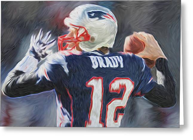 Prospects Greeting Cards - NFL - Tom Brady Greeting Card by Tyler Watts - KyddCo