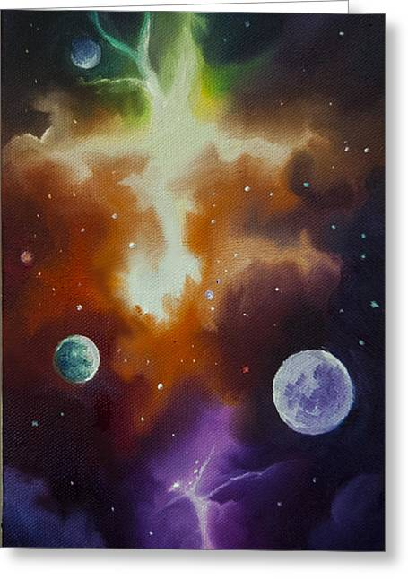 Planetary System Paintings Greeting Cards - Ngc 1030 Greeting Card by James Christopher Hill