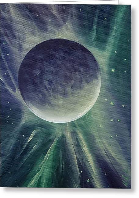 Planetary System Paintings Greeting Cards - Ngc 1032 Greeting Card by James Christopher Hill