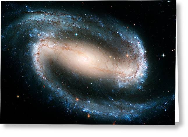 Astronomic Greeting Cards - Ngc 1300 Greeting Card by Ricky Barnard