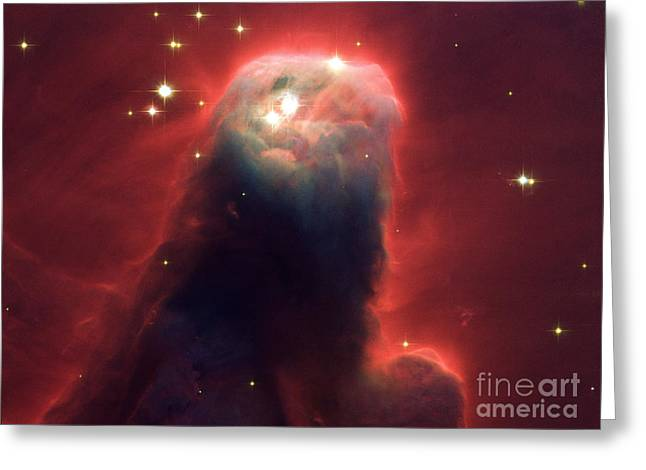 Celestial Pillars.celestial Greeting Cards - Ngc 2264 Cone Nebula Greeting Card by Science Source