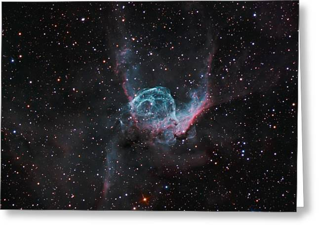 Interstellar Space Greeting Cards - NGC 2359 - The Great Dog Greeting Card by Celestial Images