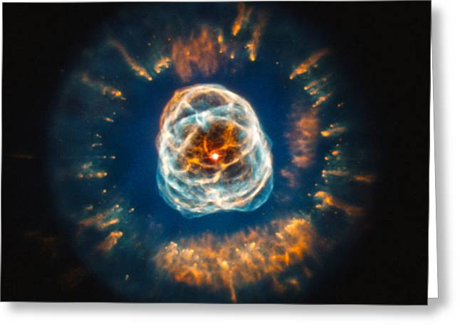 Bipolar Greeting Cards - Ngc 2392, Eskimo Nebula, Optical Greeting Card by Science Source